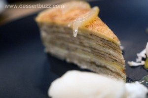 Yuzu crepe cake from Spot