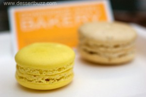It wouldn't be a French Bakery in NYC without macarons: Lemon and PBJ