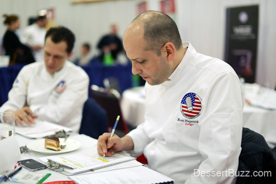 Ron Paprocki, from Gotham Bar and Grill also takes the judging very seriously